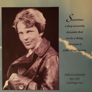 Vintage Accents - Amelia Earhart book